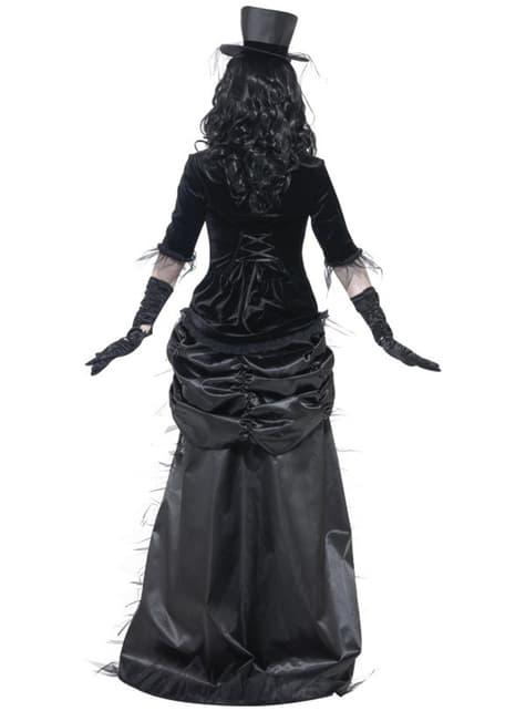 Disfarce de viúva fantasma zombie para mulher