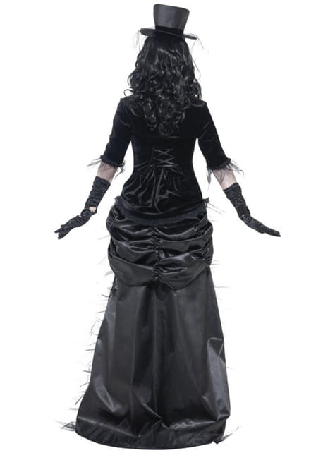 Sort spøgelsesenke kostume