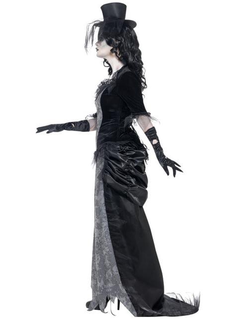 Дамски костюм на призрак на вдовица зомби