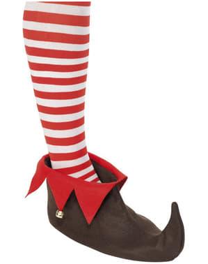 Sapatos de elfo castanhos