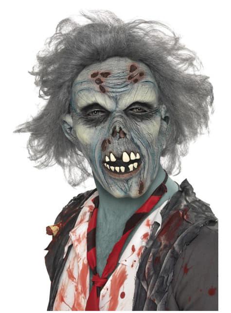 Maska zombie w rozkładzie