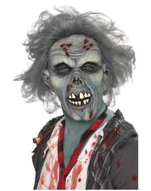 Máscara zombie em decomposição