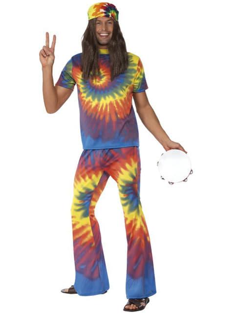 Disfraz de sesentero multicolor para hombre