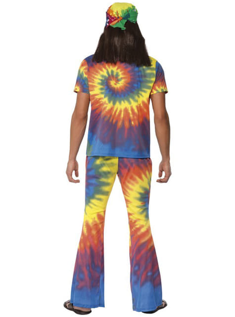 Déguisement de sexagénaire multicolore pour homme