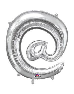Srebrny balon @ - 40cm