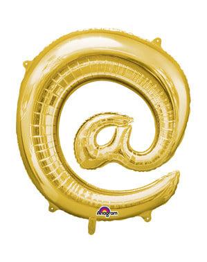 Złoty balon @ - 40cm