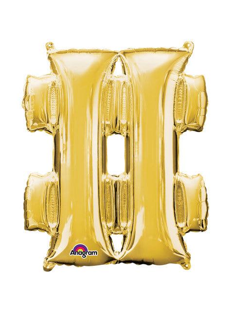 Hashtag balloon in gold (40 cm)