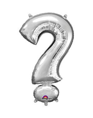 Silver ? balloon measuring 40 cm