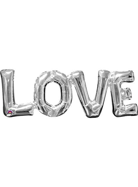 Ballon Love argenté