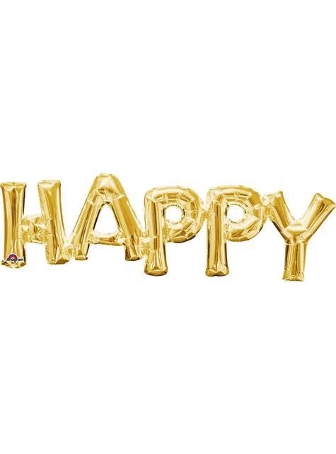 Ballon Happy doré