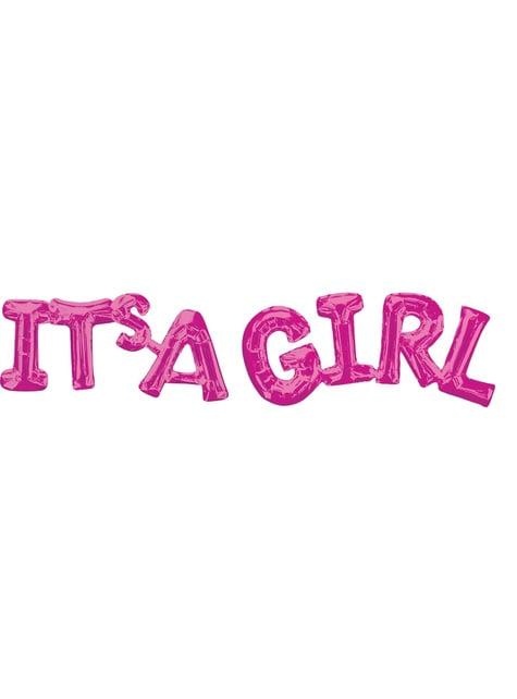 Globo It's a girl rosa