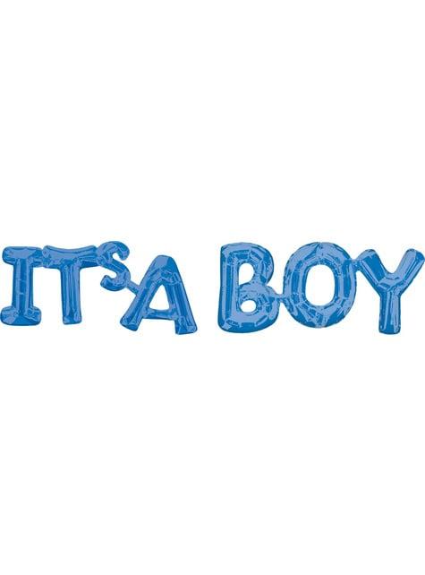 Ballon It's a Boy bleu