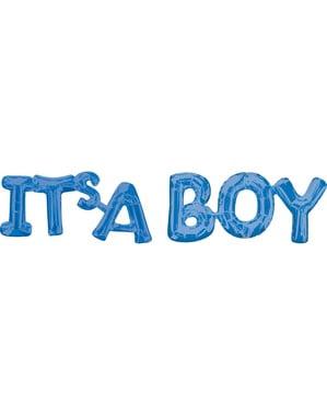 Blauwe It's a boy ballon