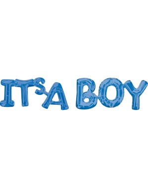 """Син балон """"It's a boy"""""""