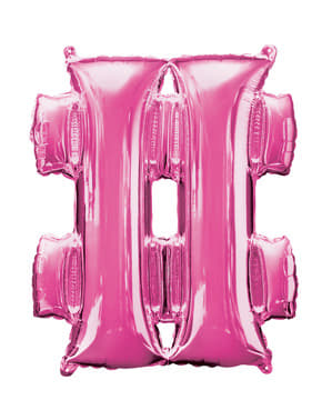 Hashtag balloon in pink (40 cm)