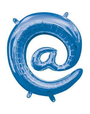 Blauwe @ ballon van 40 cm