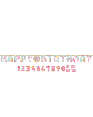 Guirnalda de Unicornio Happy Birthday personalizable de unicornio - Pretty Unicorn