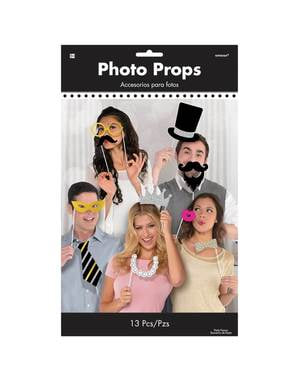13 accessoires pour Photo booth Fancy Party