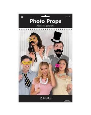 Zestaw 13 akcesoriów do zdjęć à la elegancka impreza