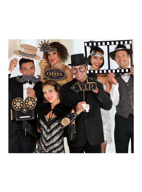 12 accessoires Photo booth Hollywood