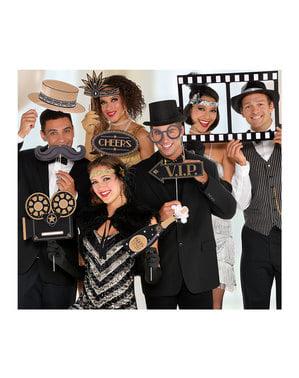 12 piese pentru photobooth Hollywood