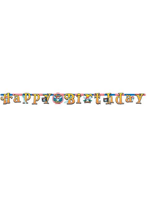 Guirlande Happy Birthday Pirate Party