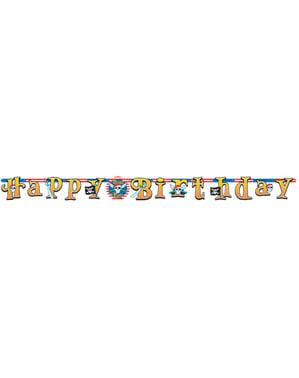 Girlanda Happy Birthday Pirátská party