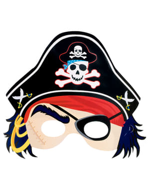 Masque en carton de Pirata - Pirate Treasure