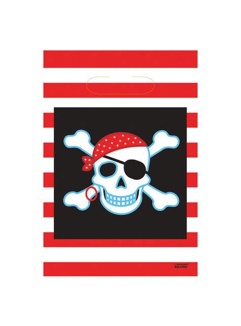 8 bolsas Pirate Party