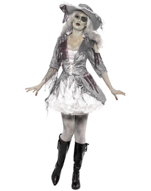 Grey Ghost Pirate Costume for Women