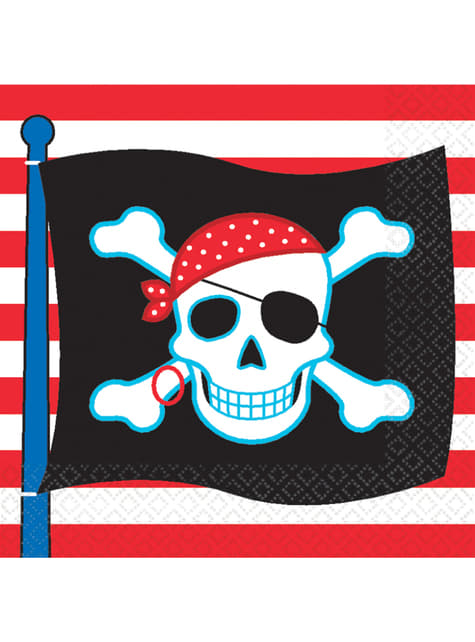 16 servilletas Pirate Party (33x33 cm)
