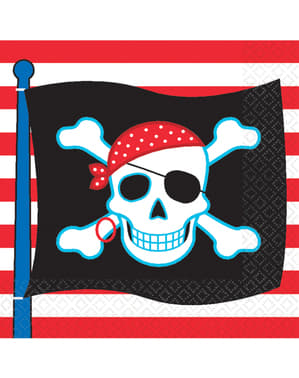 16 Serviettes en papier Pirate Party
