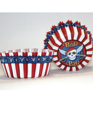 50 cápsulas para cupcakes Pirate Party