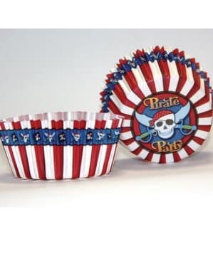 Sæt af 50 Pirat fest muffin forme