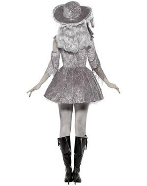 Costum de pirat fantomă gri pentru femei