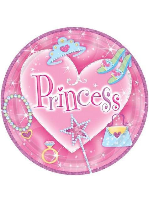 8 platos Princess (23 cm)