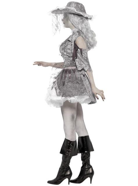 Dámsky kostým pirátsky sivý duch