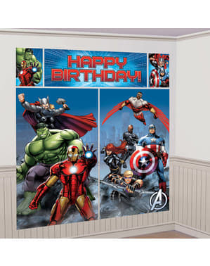 Kit decoração de parede Marvel Avengers