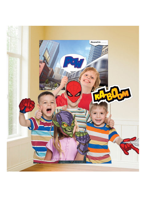12 accessoires photobooth Spiderman