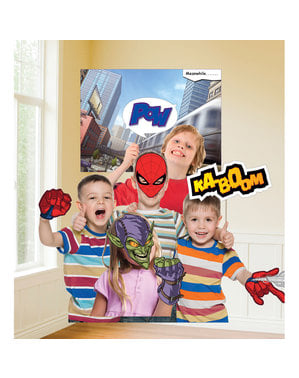 12 accessoires photobooth Spiderman