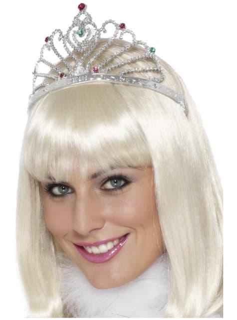 Klassinen hopeinen tiara