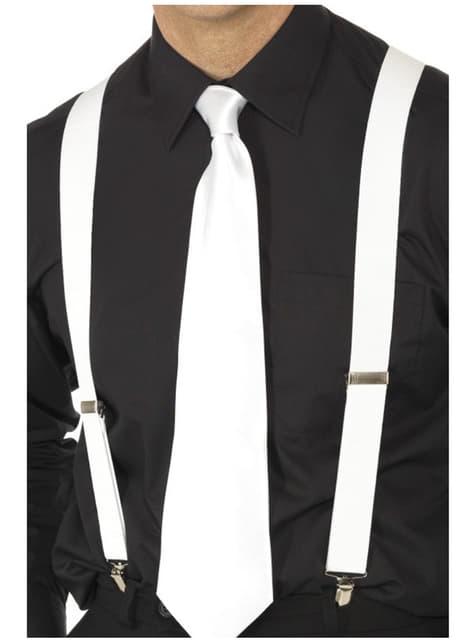 Bretele elastice albe