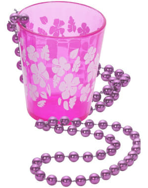 Pink Necklace with Shot- Glass