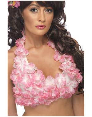 Top florido havaiano para mulher
