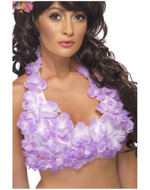 Гавайська квітка друк Топ для жінок