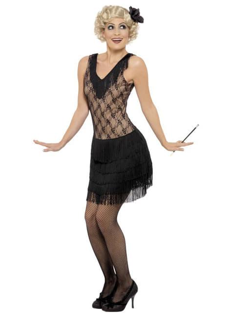 Disfraz de charlestón para mujer