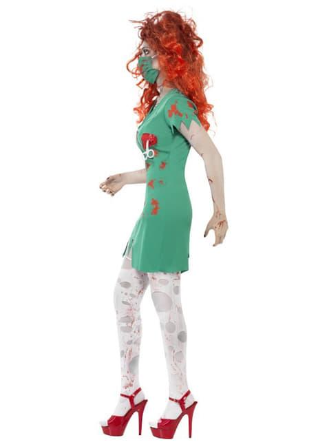 Fato de enfermeira de sala de cirurgia zombie