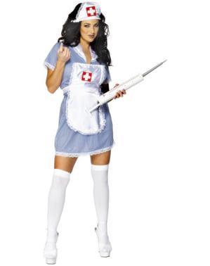 Sygeplejerskekostume classic til kvinder