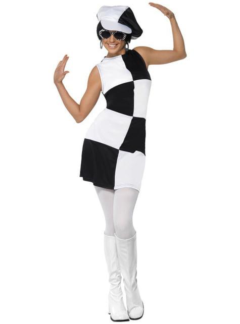 Disfraz de fiesta años 60 para mujer
