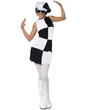 60er Jahre Party Kostüm für Damen